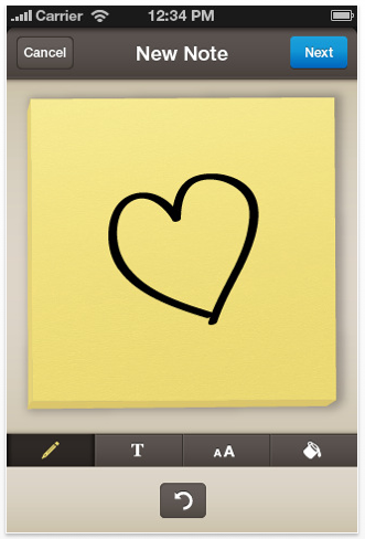 Post-it® takes it to the iPhone!