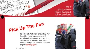 Pick Up the Pen with Pentel