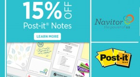 Save on Post-its with Navitor!