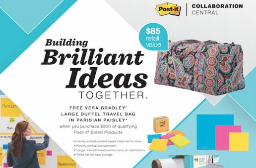Win a free Vera Bradley Duffel with Post-it!