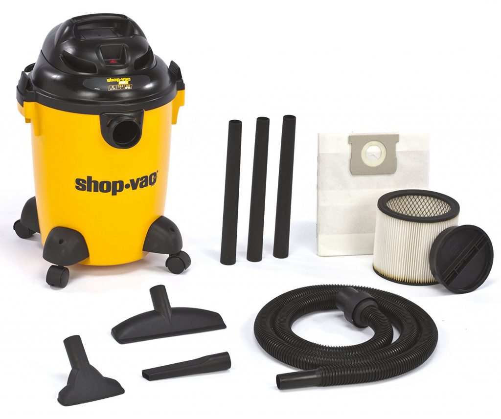 Shop Vac with included accessories