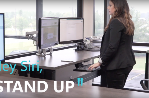 """Siri, make my desk stand up!"" – NewHeights App"