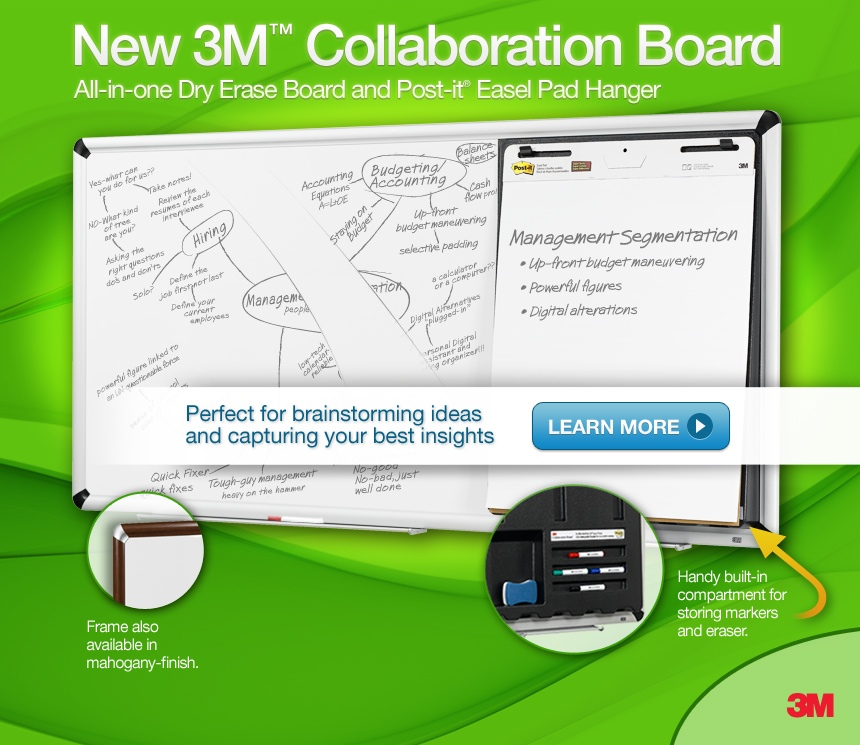 Stop, COLLABORATE and Listen…3M's back with…